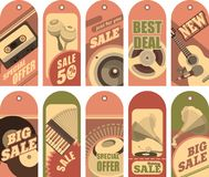 Set of sale labels Stock Image