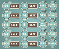 Set of sale labels retro illustration Royalty Free Stock Images