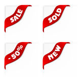 Set of sale labels, ribbons Stock Image