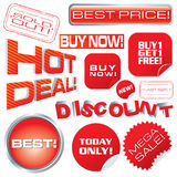 Set of sale marks. Tags and stickers, vector illustration Royalty Free Stock Photos