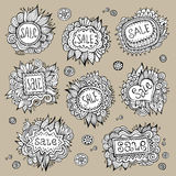 Set of Sale Nature vector Labels Stock Photo