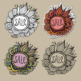 Set of Sale Nature vector Labels Stock Photos
