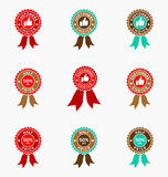 Set of sale offer badge. Promo seals/stickers. Royalty Free Stock Image