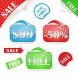 Set of sale and promo stickers Stock Photo
