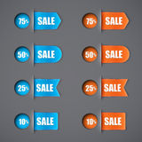 Set of sale ribbons Royalty Free Stock Photo