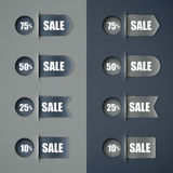 Set of sale ribbons Royalty Free Stock Photography
