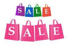 Set of sale shopping bag Stock Photo