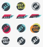 Set of sale signs. Stock Image