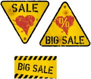 Set of Sale Signs, vector Royalty Free Stock Photography