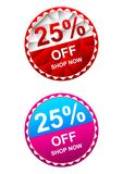Set Sale and special offer tag vector illustration