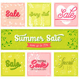 Set of sale and special offer typography banners Stock Photos
