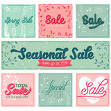 Set of sale and special offer typography banners Royalty Free Stock Images