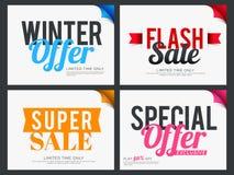 Set of Sale Sticker or Label design. Stock Image