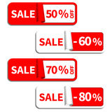 Set of Sale Sticker or Label Stock Photos