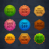 Set of Sale Sticker, Tag or Label design. Royalty Free Stock Photo