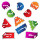 Set of sale stickers. Vector illustration of sale stickers Royalty Free Stock Photography
