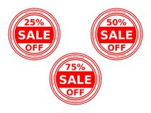 Set of Sale Stickers Royalty Free Stock Photos