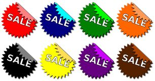 Set of Sale Stickers Stock Images