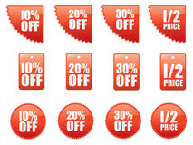 Set of sale stickers Royalty Free Stock Photography