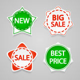 Set of sale stickers and labels. Royalty Free Stock Photo