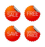 Set of sale stickers Stock Image