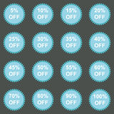 Set of sale stickers. Vector. Stock Images