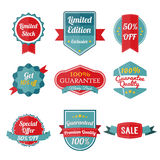 Set Of SALE stickers on white background. Royalty Free Stock Photo