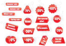 Set of sale tags stock illustration