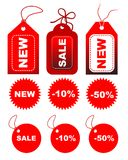 Set of sale tags Royalty Free Stock Photography