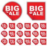 Set of Sale Tags Stock Photos