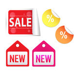 Set of sale tags Royalty Free Stock Image