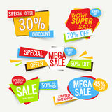 Set of Sale Tags or Banners. Royalty Free Stock Image