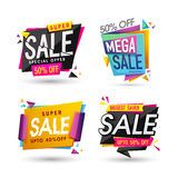 Set of Sale Tags or Banners. Royalty Free Stock Photos