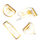 Set of sale tags with different shapes. Stock Image