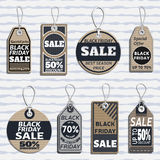Set of sale tags. different tags design on the theme of black friday sale Royalty Free Stock Photos