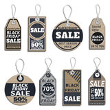 Set of sale tags. different tags design on the theme of black friday sale Royalty Free Stock Images
