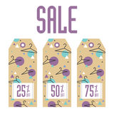 Set of sale tags. Different values discount Royalty Free Stock Photography
