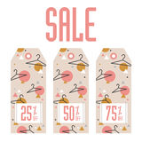 Set of sale tags. Different values discount Stock Photography