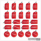 Set of Sale Tags EPS10 Format Illustration. EPS10 Royalty Free Stock Photography
