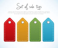 Set of sale tags Stock Image