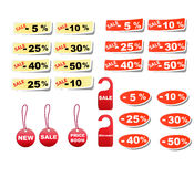 Set sale tags. Vector discount coupons Stock Image