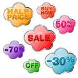 Set Sale Tags Royalty Free Stock Photography