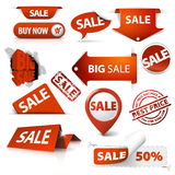 Set of sale tickets, labels, stamps, stickers Royalty Free Stock Photography