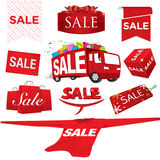 Set of sale vector Royalty Free Stock Photography