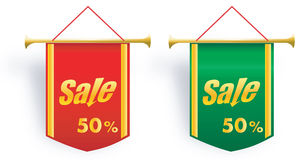 Set of sale vector banner Royalty Free Stock Photo