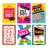 Set of sale website banner templates.Social media banners. For online shopping. Vector illustrations for posters, email and newsletter designs, ads, promotional Stock Photo