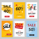 Set of sale website banner templates.Social media banners royalty free illustration