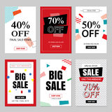 Set of sale website banner templates.Social media banners Stock Image