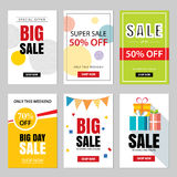 Set of sale website banner templates.Social media banners. For online shopping. Vector illustrations for posters, email and newsletter designs, ads, promotional Stock Photos