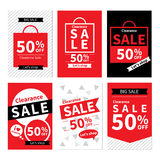 Set of sale website banner templates.Social media banners. For online shopping. Vector illustrations for posters, email and newsletter designs, ads, promotional Royalty Free Stock Photo